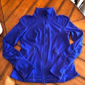 Zella Performance Zip Front Jacket Purple/Blue